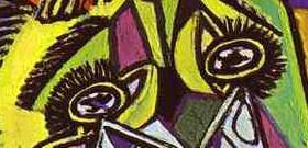 Fragmento de Mulher Chorando de Pablo Picasso